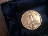 Золотая монета 20 долларов Сент Годенса 1910 года photo 1