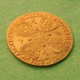 Золотые 10 рублей Екатерины ІІ 1775 г. Биткин-R, Петров-22руб, Ильин-20руб. photo 5