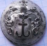 Ливрейная пуга.герб КОТВИЦА.Посеребрение.
