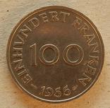 100 франков, 1955 г Саар