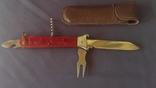 Нож раскладной охотничий в чехле новый СССР
