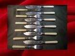 Ножи и вилки, Англия конец 19, начало 20 века, серебрение, EPNS, 12 предметов.