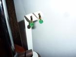 Золотые серьги с натуральными изумрудами, фото №2