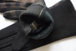 Женские утепленные перчатки, клетка. photo 2