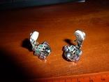 Серьги-клипсы с изумрудами и рубинами, фото №3