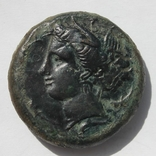 АЕ Драхма, СІЦІЛІЯ, Коло 354/3-344 BC (30мм, 29,69 грамм).