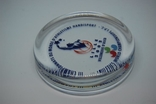 Стеклянный Сувенир 2002 Чемпитонат Лиль. Спорт. 9см. Вес 320 грн, фото №3