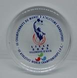 Стеклянный Сувенир 2002 Чемпитонат Лиль. Спорт. 9см. Вес 320 грн, фото №2