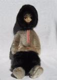 """Оригинальная сувенирная кукла """"Эскимос"""", СССР, 1978 год, 38 см."""