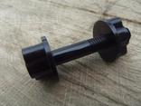 Новый пластмассовый болт для катушки металлоискателя диаметром 8 мм.