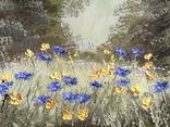 Картина Цветы на поляне, 25х30 см. живопись на холсте, оригинал, с подписью photo 2