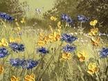 Картина Цветы на поляне, 25х30 см. живопись на холсте, оригинал, с подписью photo 3