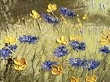 Картина Цветы на поляне, 25х30 см. живопись на холсте, оригинал, с подписью photo 4