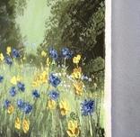 Картина Цветы на поляне, 25х30 см. живопись на холсте, оригинал, с подписью photo 5
