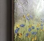 Картина Цветы на поляне, 25х30 см. живопись на холсте, оригинал, с подписью photo 6