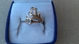 Кольцо золото 585, вставки цирконы. photo 1