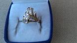 Кольцо золото 585, вставки цирконы. photo 2