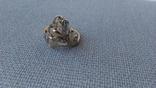Кольцо золото 585, вставки цирконы. photo 3