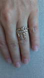 Кольцо золото 585, вставки цирконы. photo 5