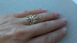 Кольцо золото 585, вставки цирконы. photo 6