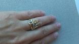 Кольцо золото 585, вставки цирконы. photo 8