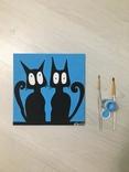 Семья котов These cats. Light Blue Bald Fam. 2 Cats.