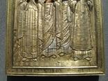 Серебряная икона с четырьмя святыми + киот. 84 проба. 40х58 см. photo 7