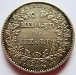 """Дания, 2 кроны 1888 """"25 юбилей правления"""""""