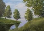 Картина ''Біля річки'' 35х50