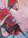 Девушка с виоланчелью 30*40 см photo 5