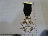 Масонская медаль крест знак масон 2308