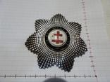 Масонская медаль крест серебро 51 грам. знак масон 8057