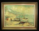 Giovanni Camprio (1915-1999). Холст. Масло. Остров Капри. 60-е годы. Италия. (0078)