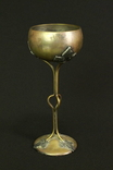 Винтажная ваза. Чаша. Латунь. Ручная работа. Европа. (0049)