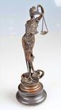 Богиня правосудия Статуэтка Фемида Юстиция Бронза Фигурка