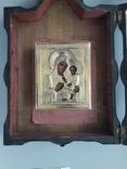 Икона Тихвинская Божья Матерь Серебро 14 на 11 photo 2
