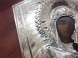Икона Тихвинская Божья Матерь Серебро 14 на 11 photo 12