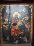 Икона Божья Матерь Троицкая с предстоящими 86х66 см