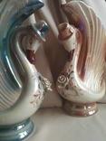 Фарфоровые вазы. Пара лебедей. 2 штуки одним лотом.