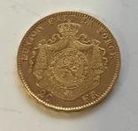 20 франков 1877 года БЕЛЬГИЯ золото 6,45 грамм 900` photo 2