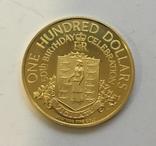 100 $ 1976 год БРИТАНСКИЕ ВИРДЖИНСКИЕ ОСТРОВА золото 7,26 грамм 900` photo 1