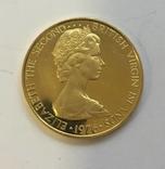 100 $ 1976 год БРИТАНСКИЕ ВИРДЖИНСКИЕ ОСТРОВА золото 7,26 грамм 900` photo 2
