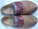 Оригинальные старинные голландские деревянные сабо, фото №2