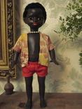 Кукла Негритенок,Московская ф-ка сувенирных и подарочных игрушек 70-е г. в родной одежде.