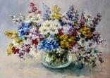 Полевые цветы 25х35 авторская картина photo 2