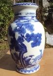 Большая ваза Китай, роспись кобальтом, высота 35 см.