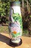 Большая ваза клуазоне, Китай, высота 39 см.