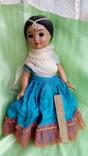 Индианка в национальной одежде(кукла времен СССР)
