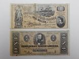 2 боны по 1 доллару, США