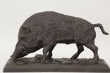 """Бронзовая скульптура """"Кабан"""", бронза, охота, подарок охотнику"""